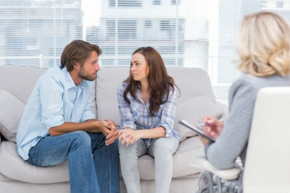 man and woman in therapy with couples therapist
