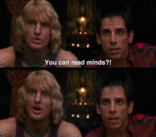 Zoolander Ben Stiller Owen Wilson read minds