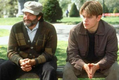 Good Will Hunting Matt Damon Robin Williams park scene