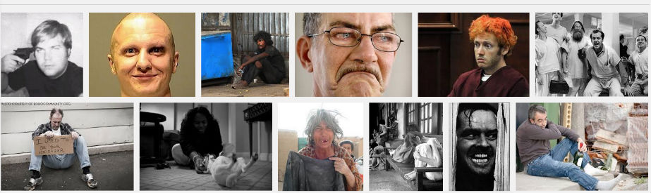 top Google image search results mentally ill people