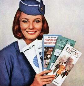 pan am smile flight attendant