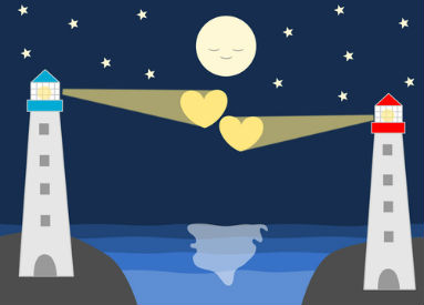 lighthouses hearts moon long-distance relationships