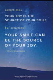 joy quote thanking yourself