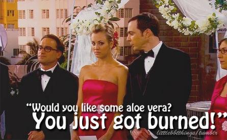 The Big Bang Theory burned