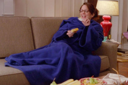 Liz Lemon couch doing nothing