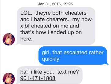 Tinder chatbot bad syntax