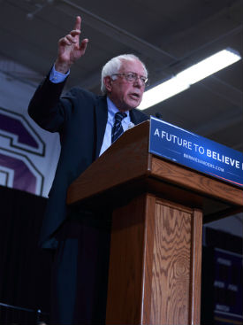 Bernie Sanders podium psychological profile