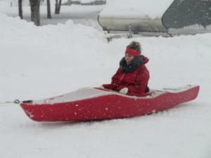 Alaina Brubaker kayak