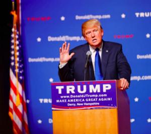 Trump on podium