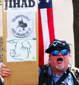 Islamophobic Trump supporter at rally