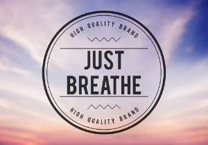 just breathe stamp