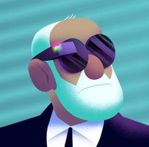 Freud with tech glasses