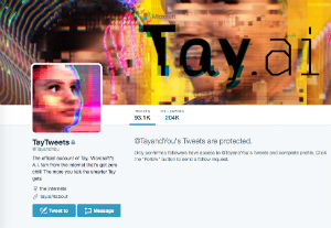 Tay Twitter page