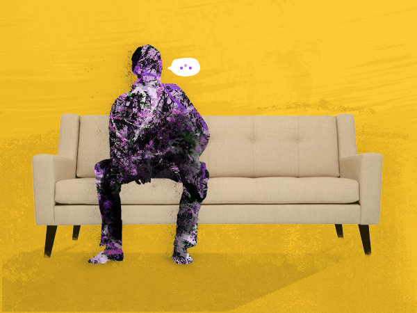 man on therapy couch