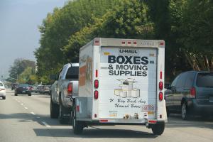 truck u-haul boxes