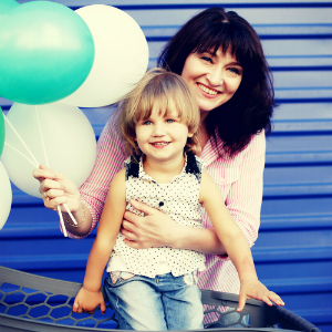 mom daughter birthday balloons