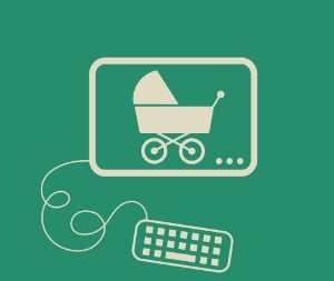 baby stroller smartphone