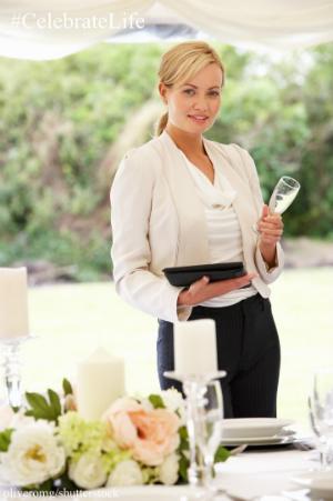 wedding planner wine glass tablet