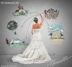 bride wedding planning drawing