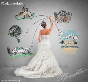 bride wedding planning drawing