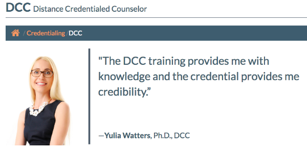 DCC credential therapist