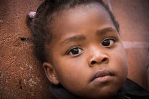 young black girl sad