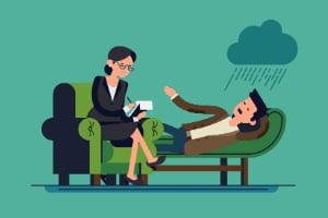 therapist client rain cloud