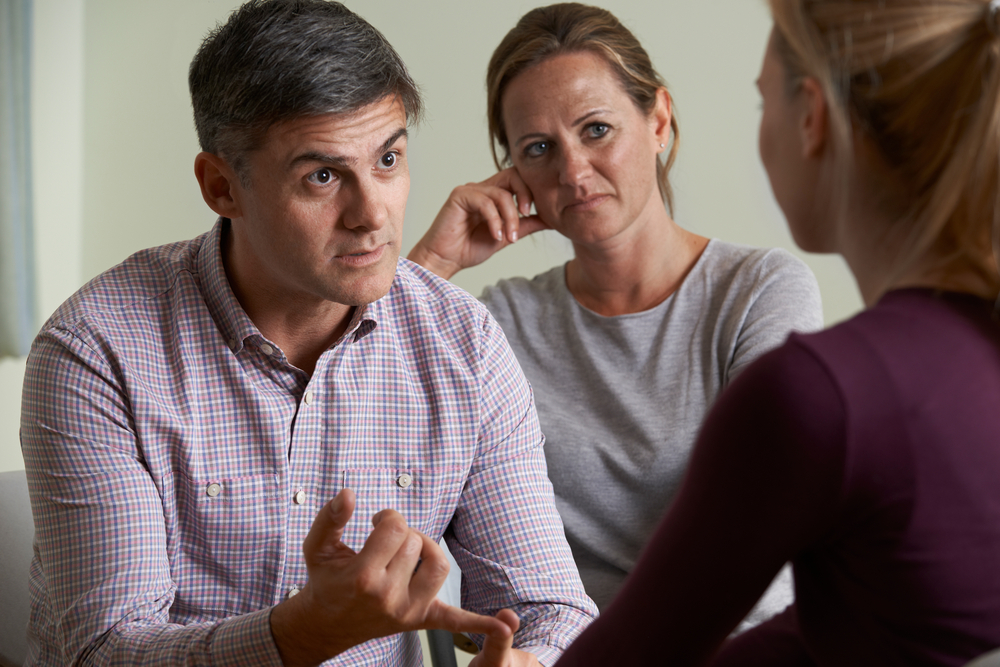 couple in therapy with therapist