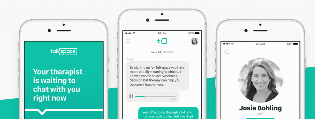 Talkspace mobile user interface