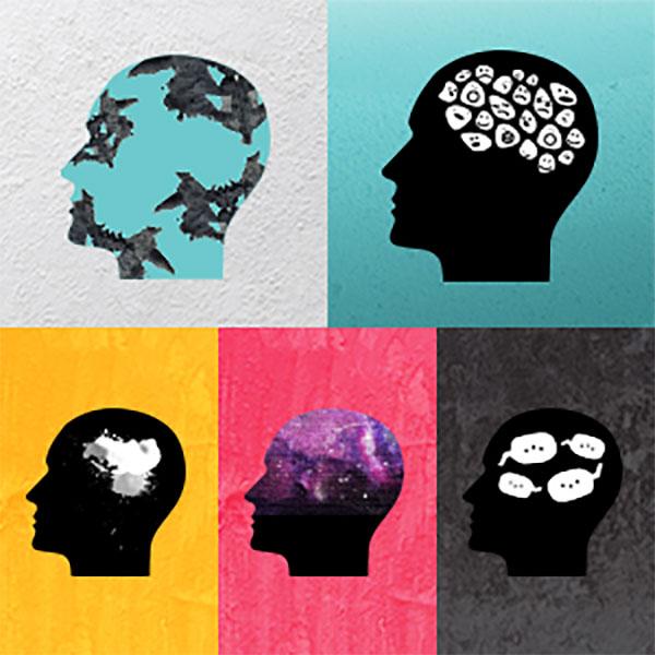 5 heads art