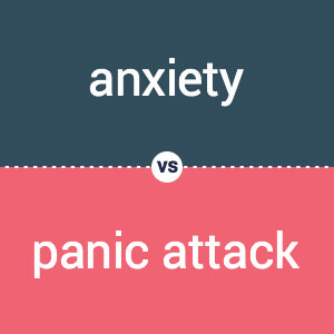 anxiety vs. panic attack illustration