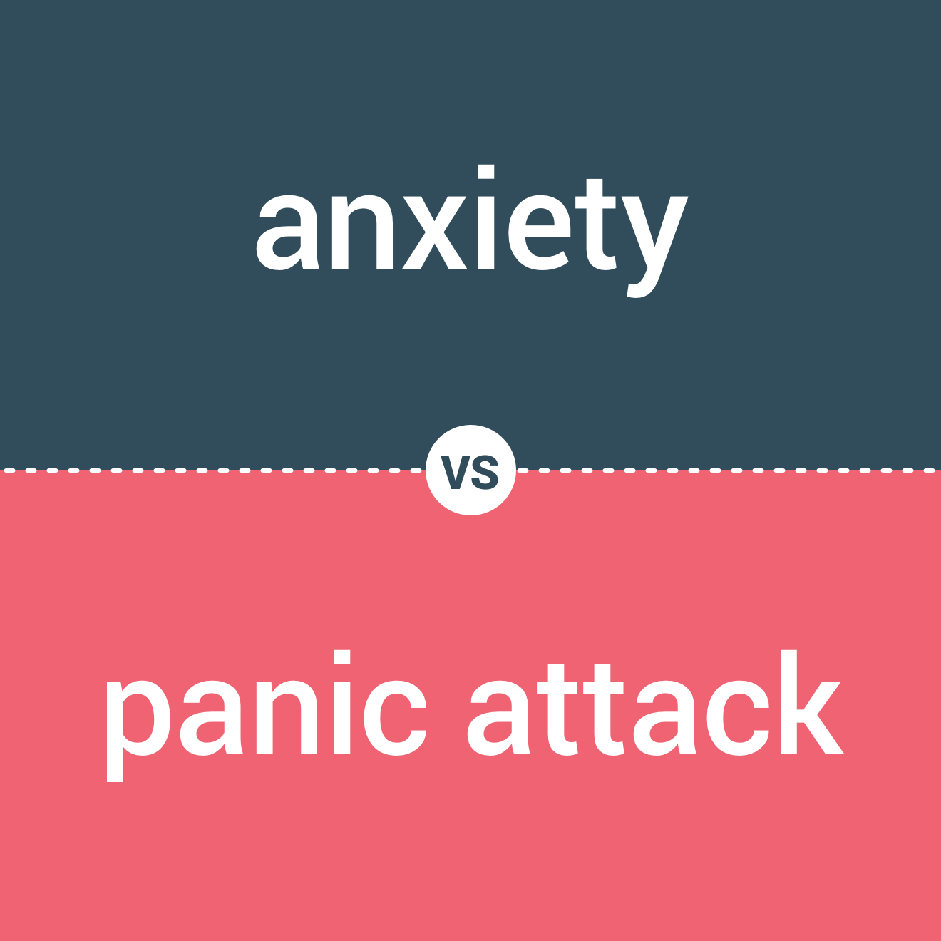 anxiety vs. panic attack blue red image