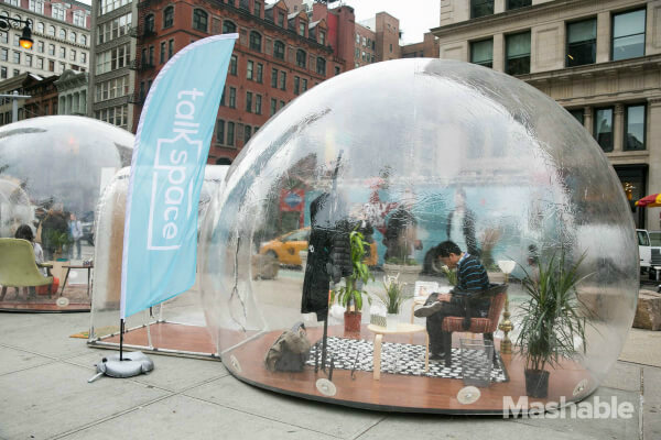 Talkspace therapy bubble event