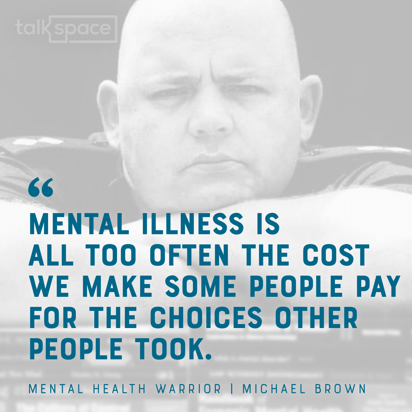 Michael Brown Talkspace headshot quote