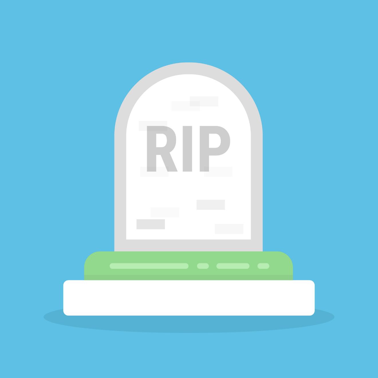 grave illustration RIP