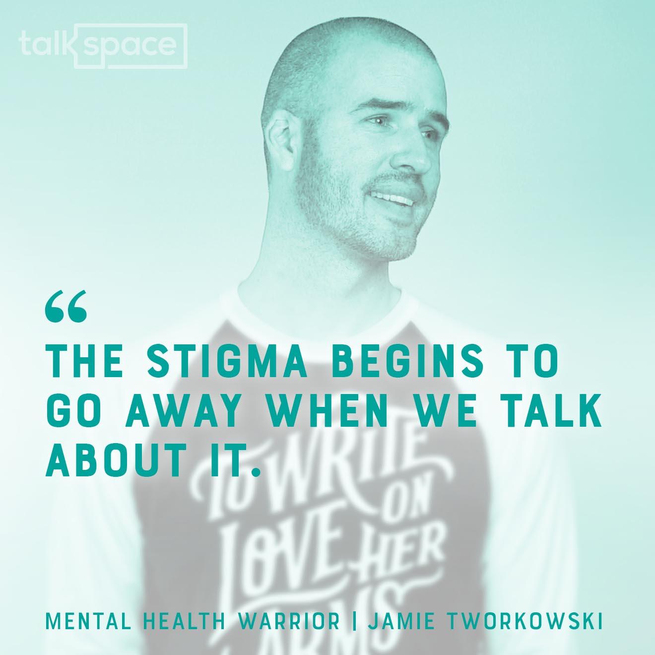 Jaimie Tworkowski TWLOHA Talkspace headshot quote