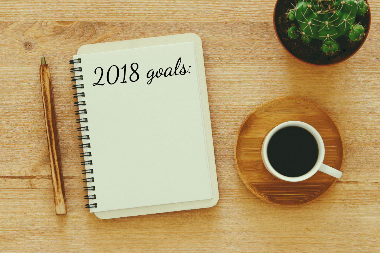 2018 goals notebook coffee house plant