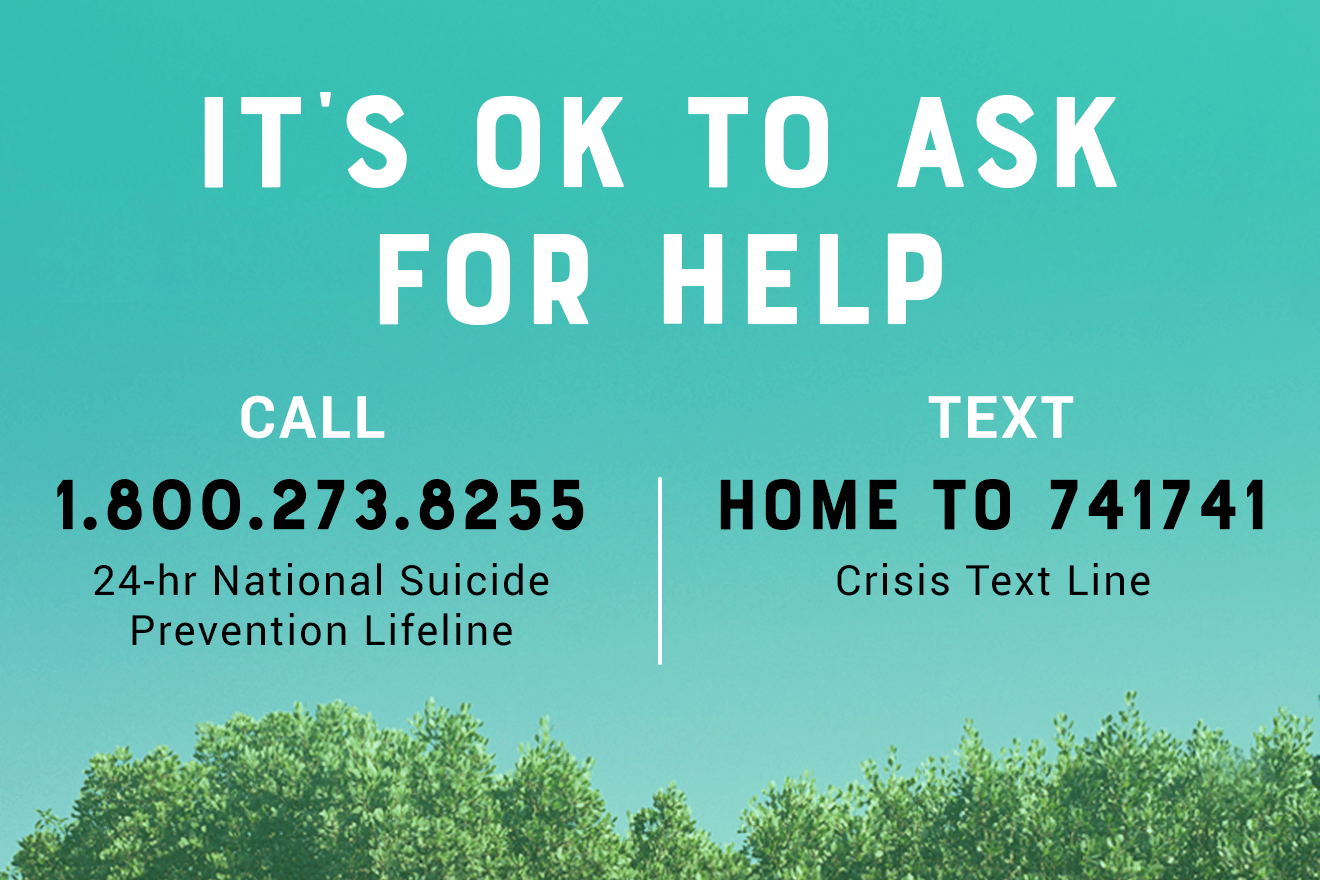 Suicide hotline numbers