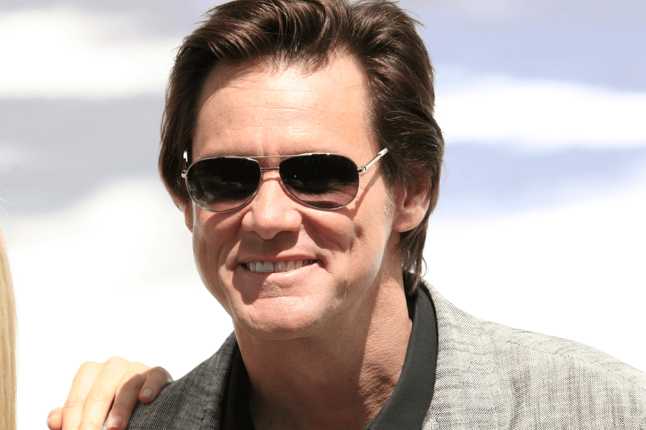 actor jim carrey wearing dark glasses
