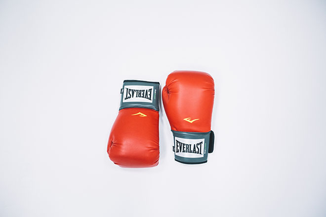 A set of boxing gloves