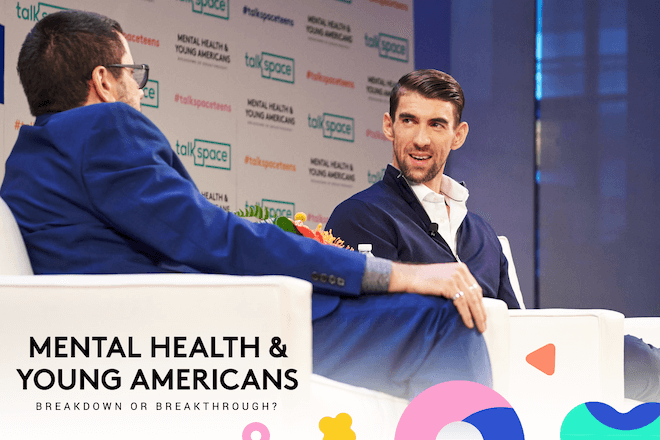 Talkspace CEO Oren Frank speaks with Michael Phelps