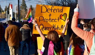 Defend and protect queer kids sign