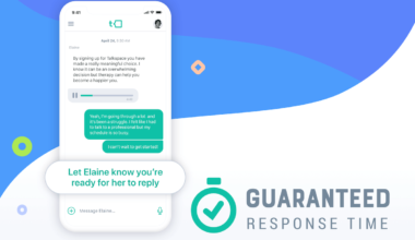 Talkspace's Guaranteed Response Time feature