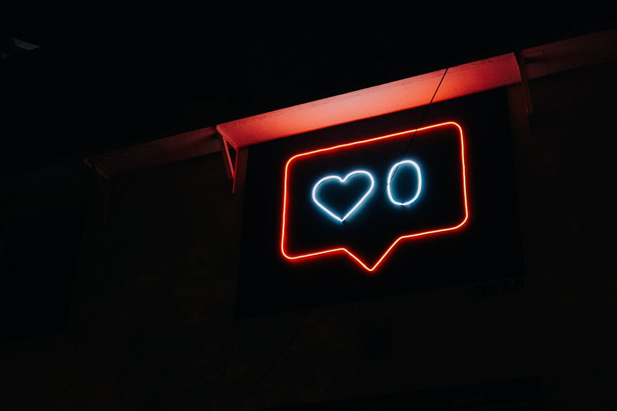 instagram like neon sign