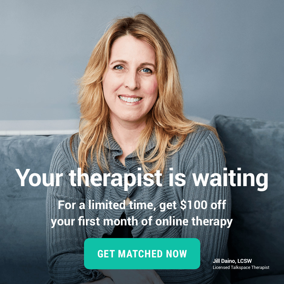 Your therapist is waiting. For a limited time, get $100 your first month of online therapy.
