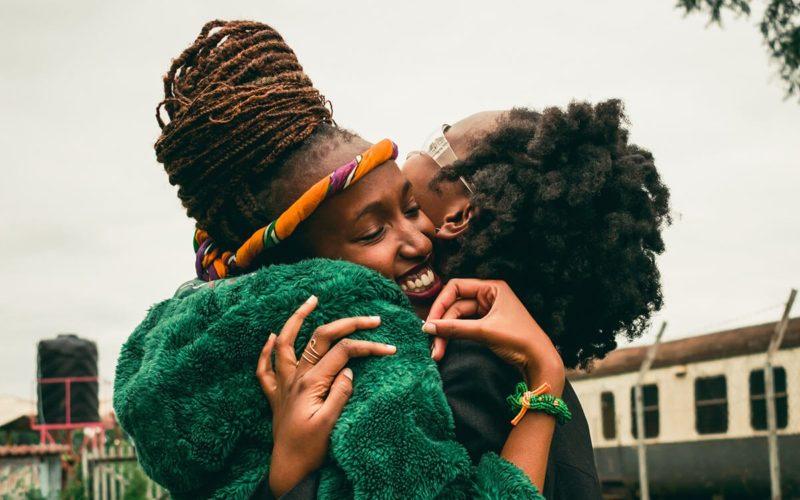 emotionally intelligent women hugging