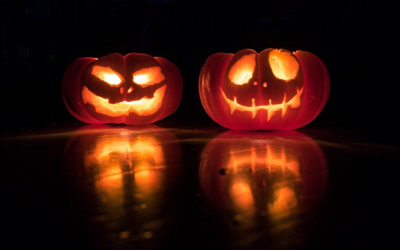 halloween pumpkins, being scared