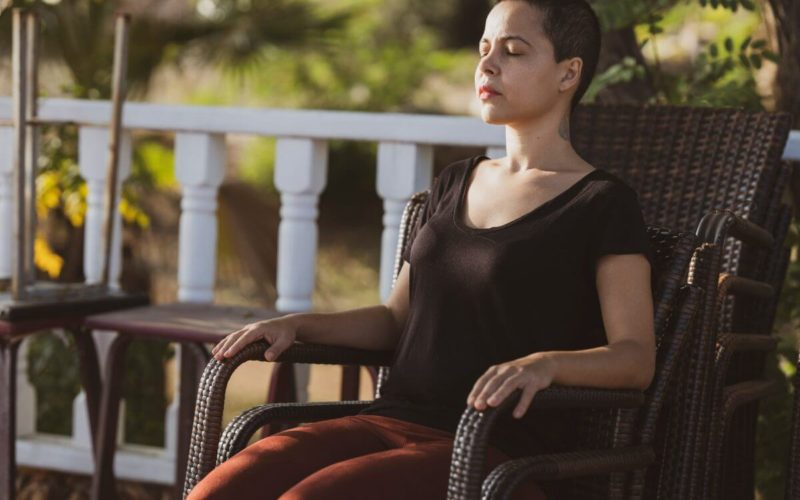 woman sitting outside, developmental psychology