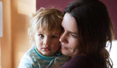 woman holding child