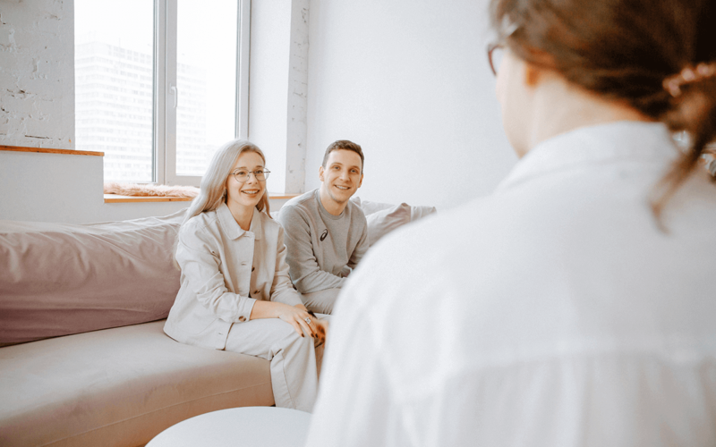 couple in premarital counseling